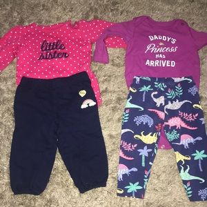 Baby girl 6 month sized outfits